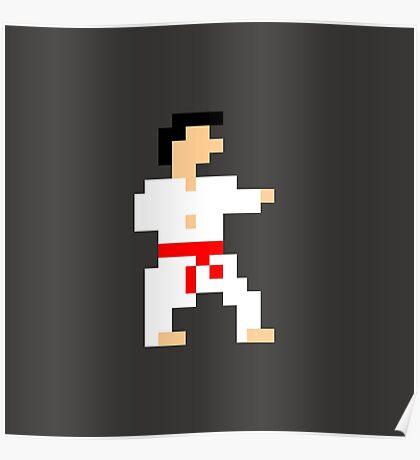 8-bit Martial Artist Poster