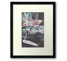 On Beach with String Framed Print