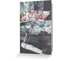 On Beach with String Greeting Card