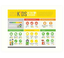 Cook Smarts' How to Involve Kids in the Kitchen Infographic Art Print