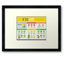Cook Smarts' How to Involve Kids in the Kitchen Infographic Framed Print