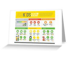 Cook Smarts' How to Involve Kids in the Kitchen Infographic Greeting Card