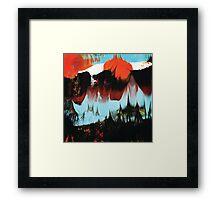 Dreaming of Color (Monoprint in Orange & Blue) Framed Print