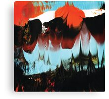 Dreaming of Color (Monoprint in Orange & Blue) Canvas Print