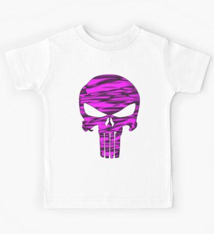 Punisher Skull Pink  Kids Tee