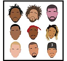 9 Rappers of History Photographic Print