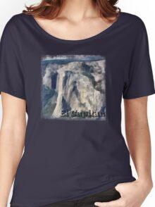 Rock Climbing Yosemite El Capitan Abstract Women's Relaxed Fit T-Shirt