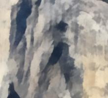 Rock Climbing Yosemite El Capitan Abstract Sticker