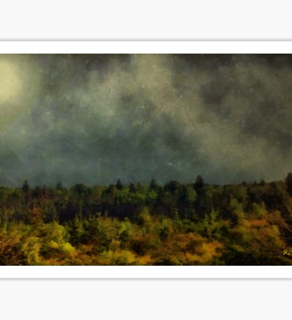 Autumn Night in the Pines Sticker