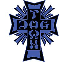 DogTown, Logo - Blue and Black Photographic Print