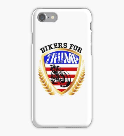Bikers for Trump t shirt iPhone Case/Skin