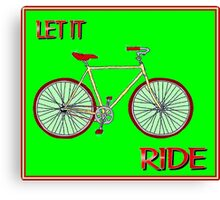 LET IT RIDE; Abstract Whimsical Bicycle Print Canvas Print