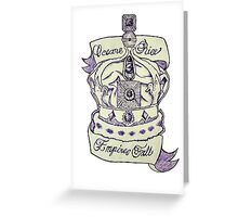 Oceans Rise, Empires Fall Greeting Card