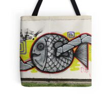 fish graffiti Tote Bag