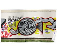 fish graffiti Poster