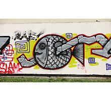 fish graffiti Photographic Print