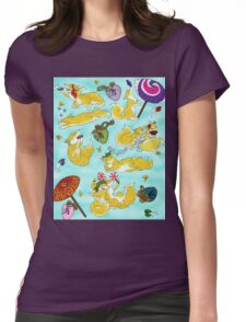 Sake Foxes Womens Fitted T-Shirt