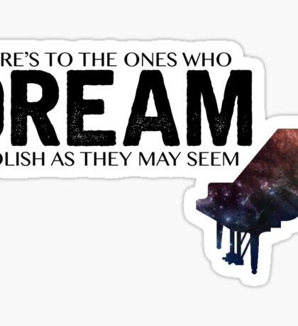 Piano La La Land Sticker