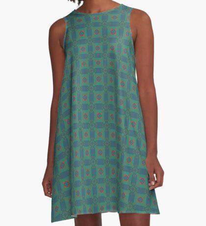 Cultural Patchwork A-Line Dress