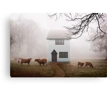 Country House In Mist Canvas Print