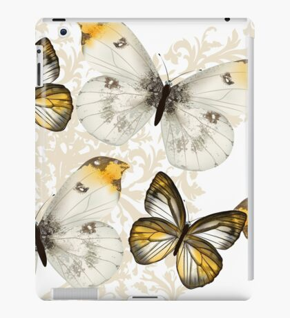 Yellow and black butterflies iPad Case/Skin
