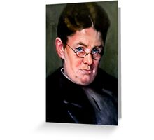 study woman after Carl Von Marr Greeting Card