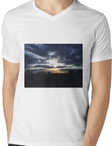 The Light Beyond the Clouds Mens V-Neck T-Shirt