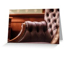 Soft leather chair Greeting Card