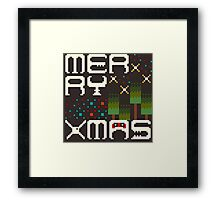 Merry 8bit Christmas Framed Print