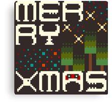 Merry 8bit Christmas Canvas Print