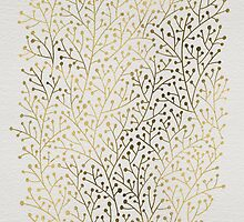 Gold Berry Branches by Cat Coquillette