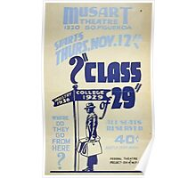 WPA United States Government Work Project Administration Poster 0158 Class of 1929 Industry 1936 Poster