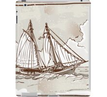 Vintage View of Sailing Ships on the Sea iPad Case/Skin