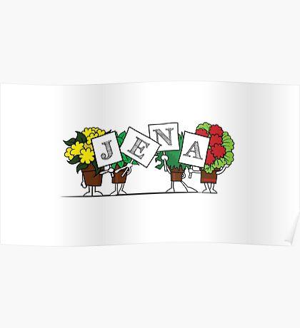 Plant Poses - Jena Poster