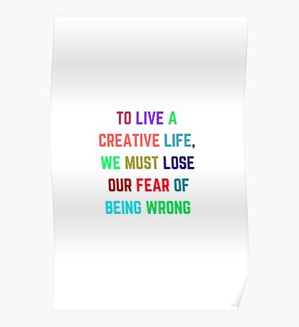 TO LIVE A CREATIVE LIFE Poster