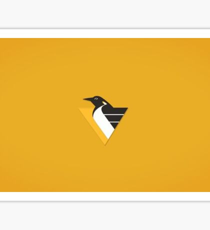 Pittsburgh Penguins Yellow Design Sticker