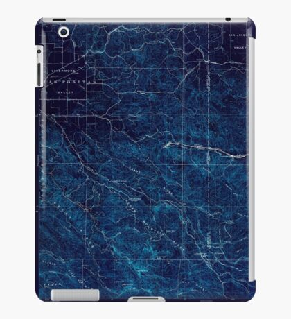USGS TOPO Map California CA Tesla 298992 1907 62500 geo Inverted iPad Case/Skin