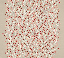 Red & White Berry Branches by Cat Coquillette