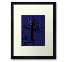 I Am Groot (Glow) Framed Print