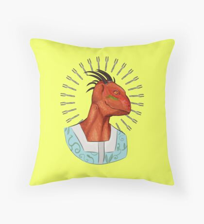 Big Head, Lover of Forks Throw Pillow