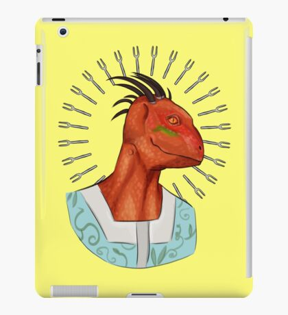 Big Head, Lover of Forks iPad Case/Skin