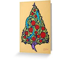 Lizards in the Christmas Tree Greeting Card