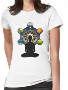 Sacred Meditation Womens Fitted T-Shirt