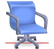 Glitch furniture officechair office chair blue plastic Photographic Print