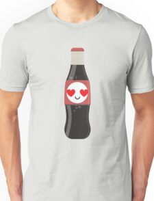 Soft Drink Bottle Emoji Heart and Love Eye Unisex T-Shirt