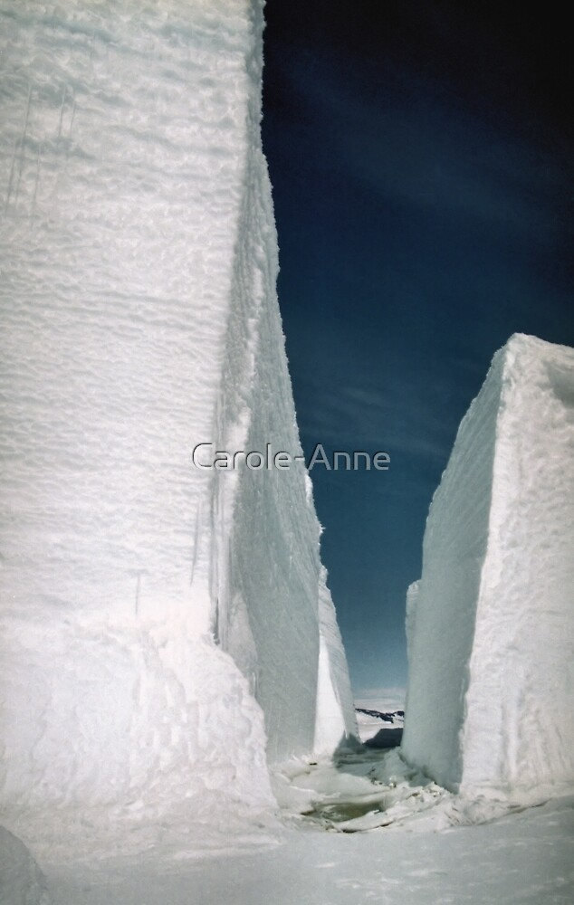 Ice 'Mountains' by Carole-Anne