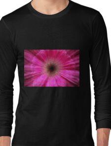Pink bursting Gerber Daisy photograph  Long Sleeve T-Shirt