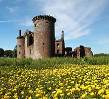 Caerlaverock Castle in Spring by Maria Gaellman