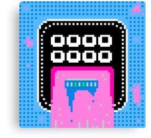 Pink Pixel Vomit Canvas Print