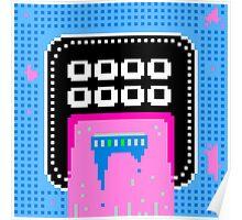 Pink Pixel Vomit Poster